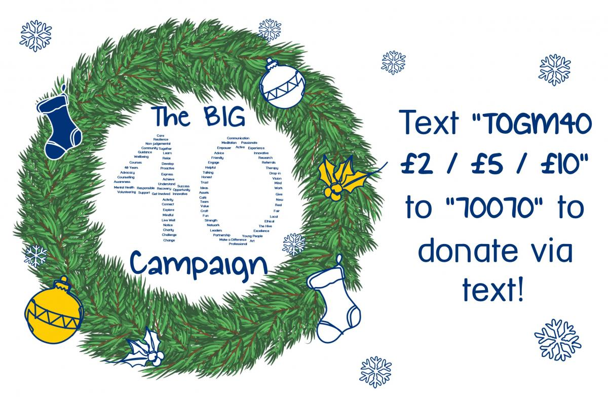 The Big 40 - Text Donate Campaign