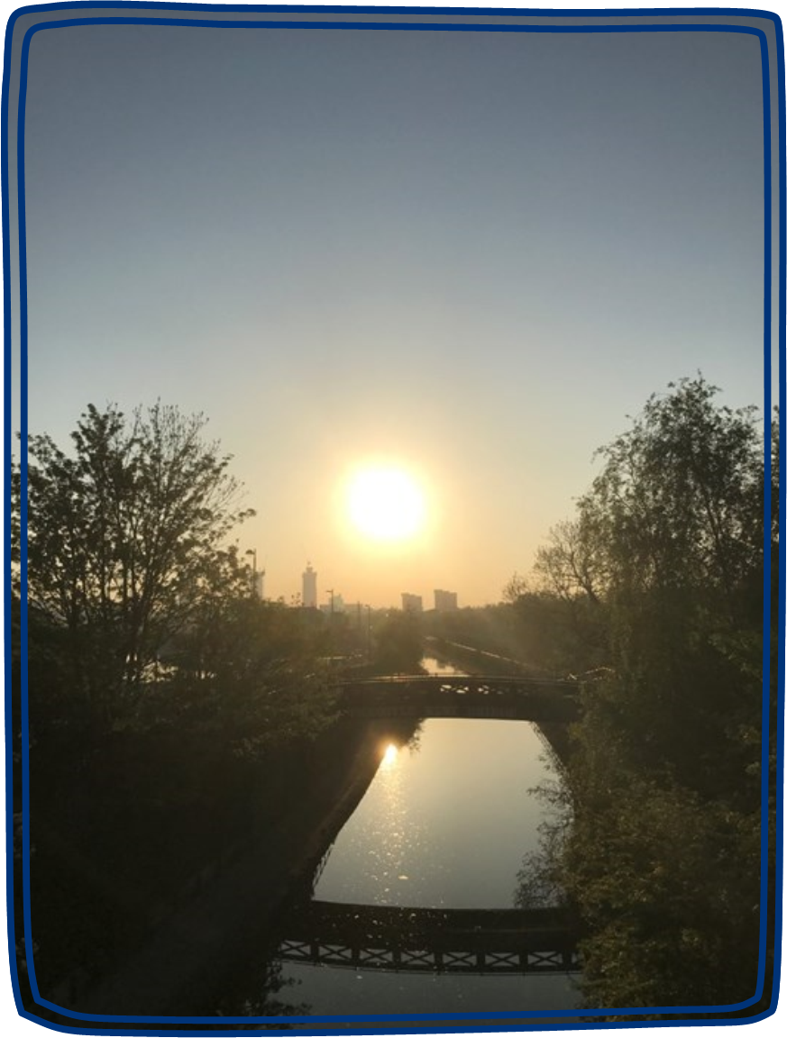 A lovely photo taken by Katie during one of her runs of a canal during the early morning
