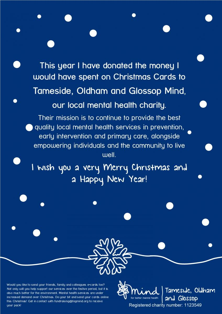 Christmas E Cards Tameside Oldham And Glossop Mind