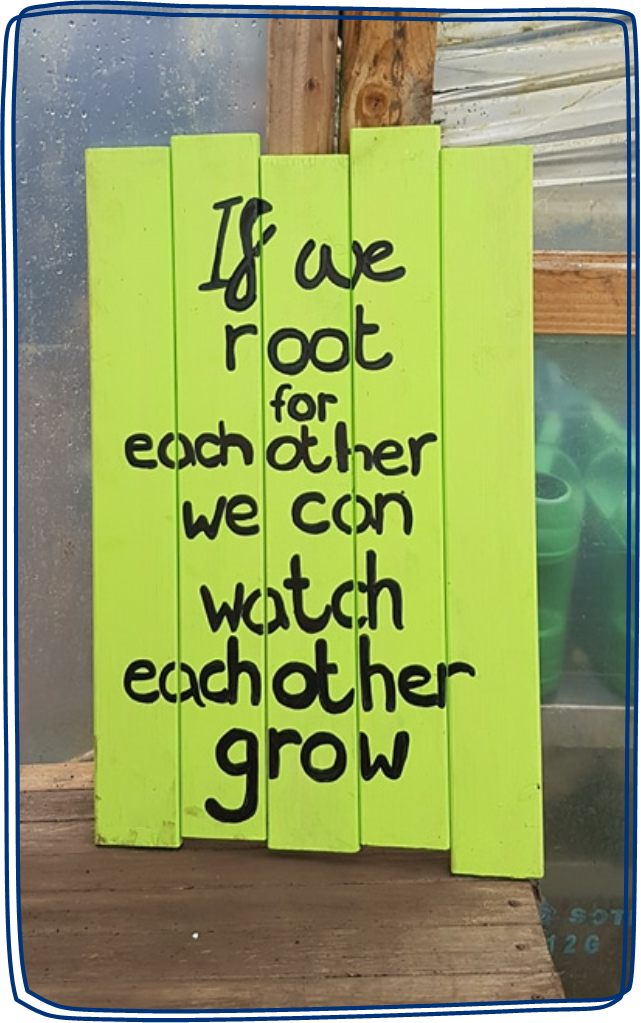 If we root for each other, we can watch each other grow.
