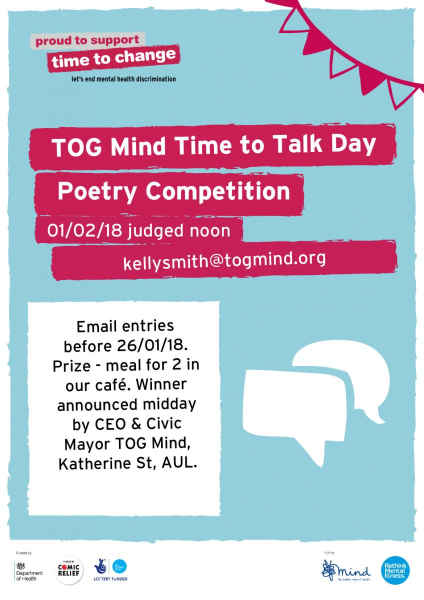 Time to Talk day 2018 - Poetry Competition