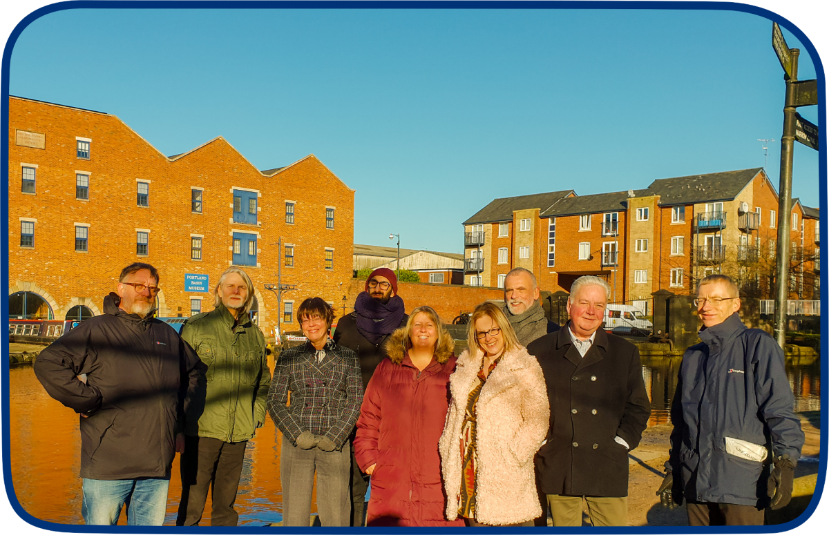Some of our trustees on a Walk & Talk with some of the staff.