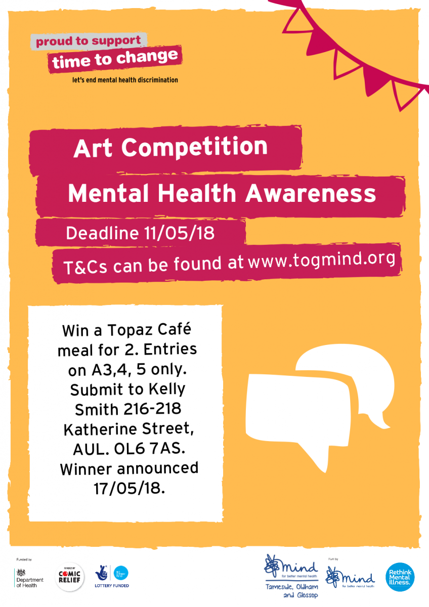 Mental Health Awareness Week Art Competition Poster