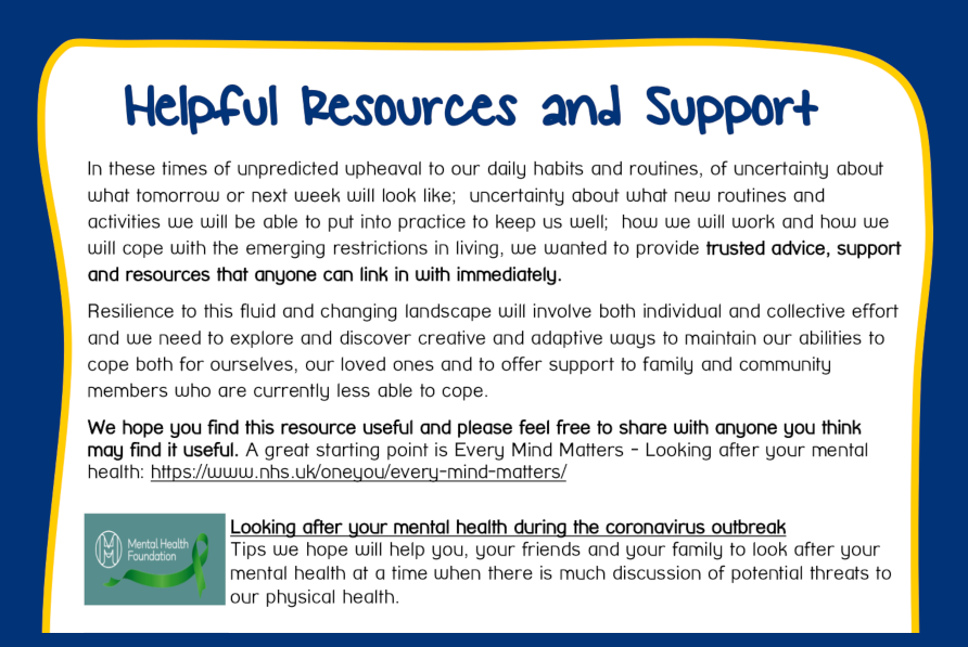 Helpful Resources and Support