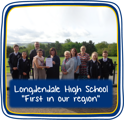 "A group of students from Longendale High School for news article: ""First in our region"""