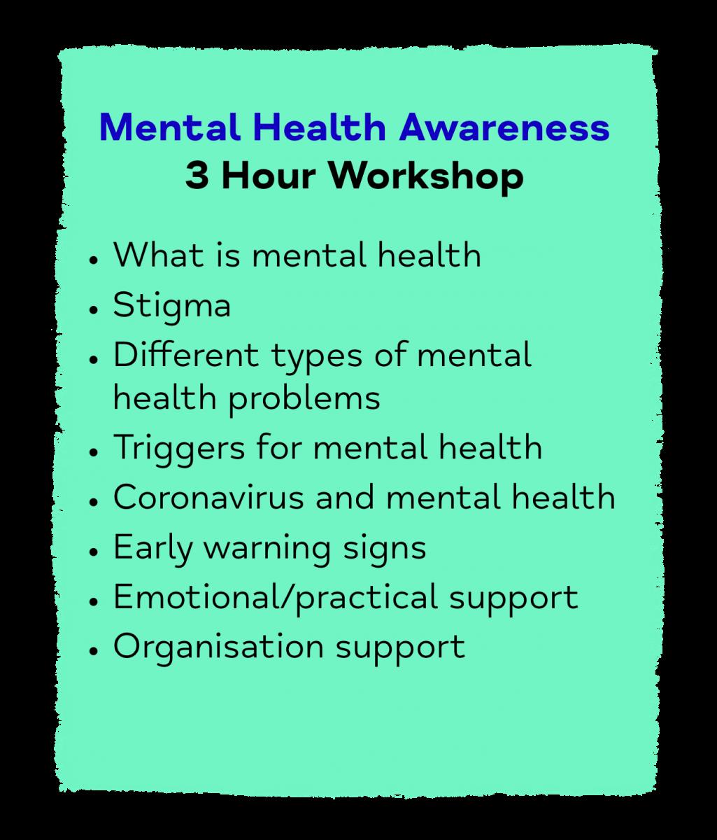 Mental Health Awareness 3 Hour Workshop