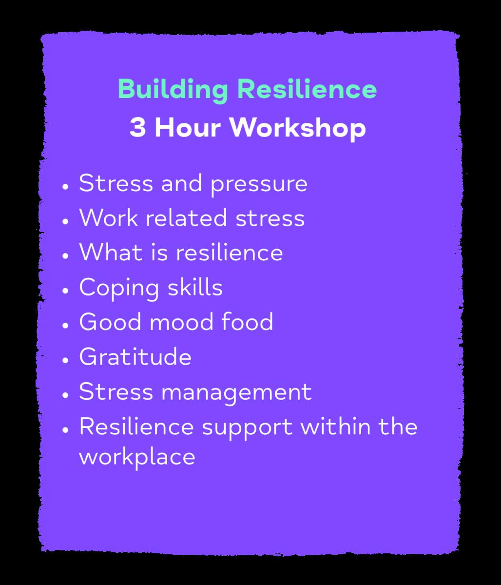 Building Resilience 3 Hour Workshop