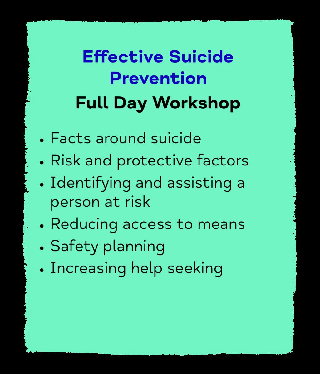 Effective Suicide Prevention Full Day Workshop