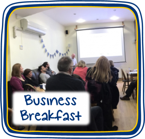 We recently held a business breakfast for local businesses to network and take part in presentations!