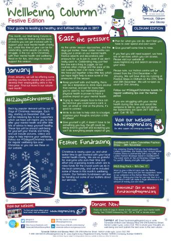 Oldham Wellbeing Column - December