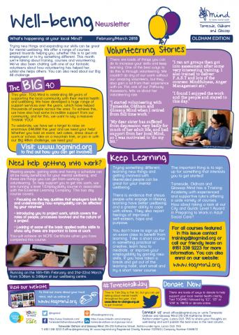 Wellbeing Column - Oldham - February / March