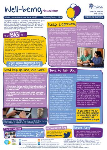 Wellbeing Column - Tameside - February / March