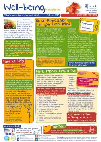 Wellbeing Column for October for Oldham