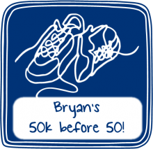Read about Bryan's goal of reaching 50km before reaching 50.