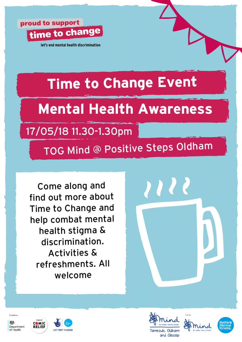 Mental Health Awareness Week Oldham Poster